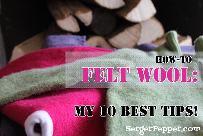 Serger Pepper - How to felt wool