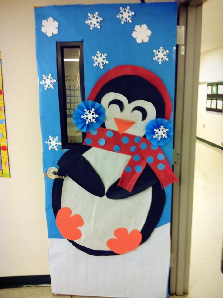 Image result for winter door decorating cartoon characters