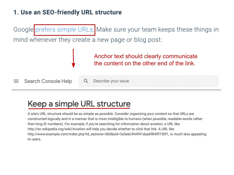 keep a simple SEO friendly URL structure