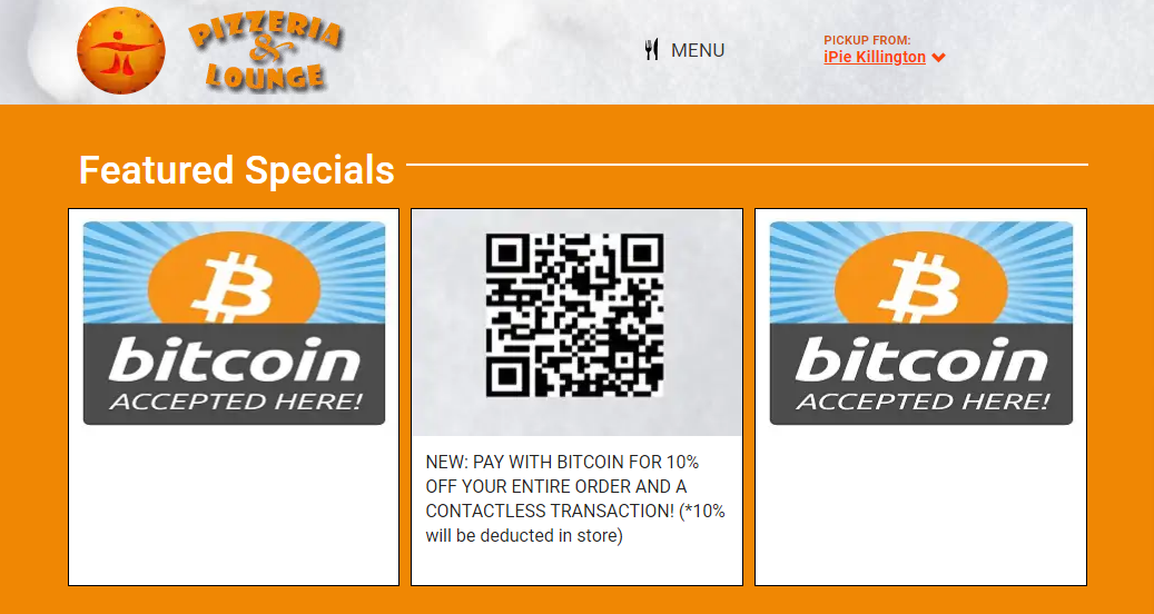 Feature cards with a bitcoin announcement