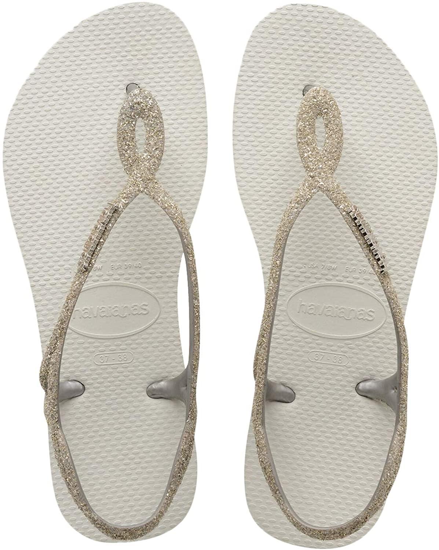 Amazon.com: Havaianas Luna Premium Infradito Bianco da Donna LUNA PREM  0001: Clothing