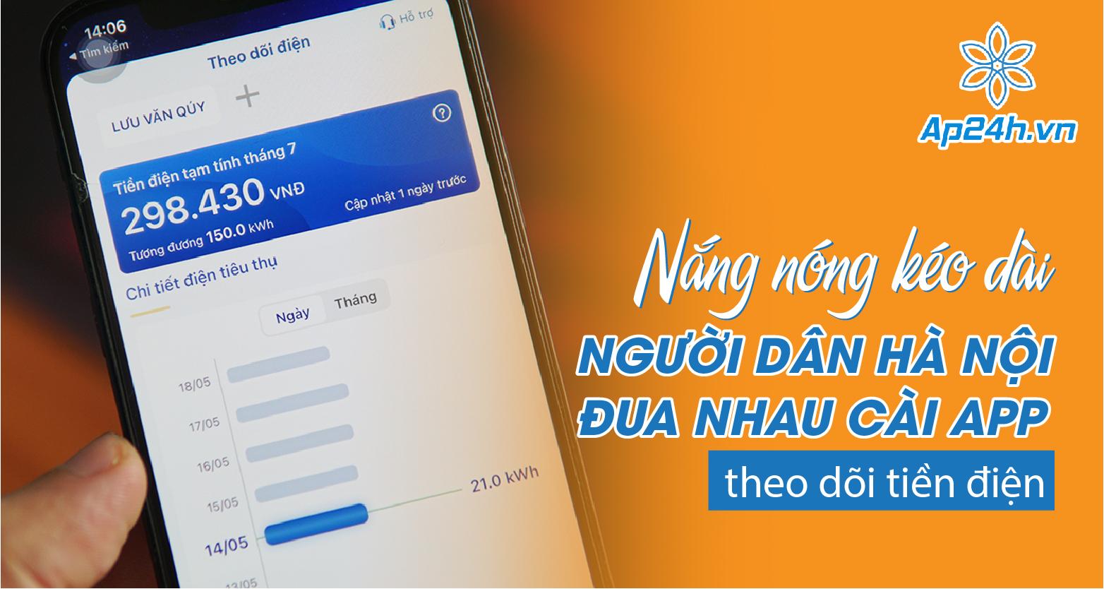 Người dân Hà Nội đua nhau cài app theo dõi tiền điện
