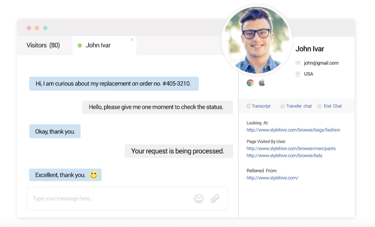 ProProfs offers incredible live chat features