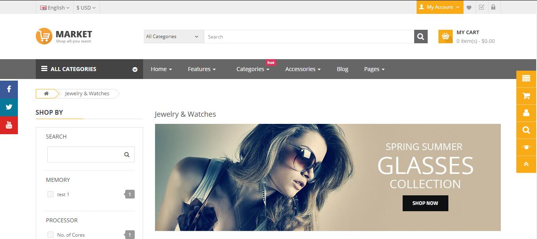 Market - Opencart jewelry theme