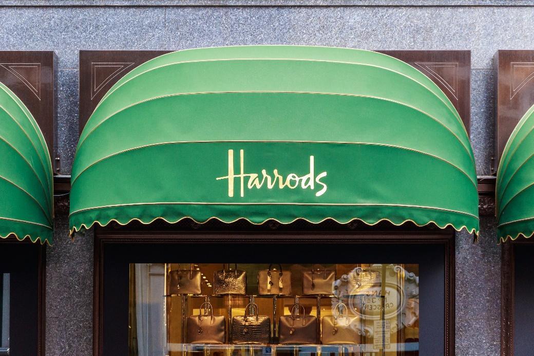 Harrods shop front in London