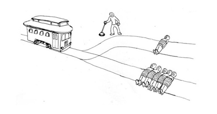 Illustration du dilemme du tramway.