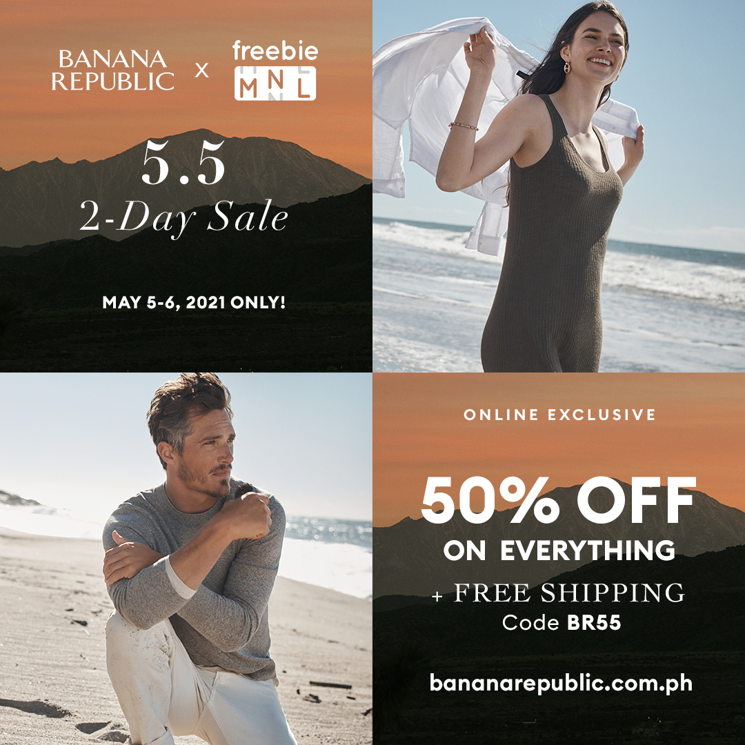 Score Contemporary Classics at 50% off at Banana Republic