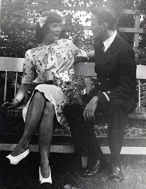 Martha and Lloyd, July 1945 wedding, Illinois