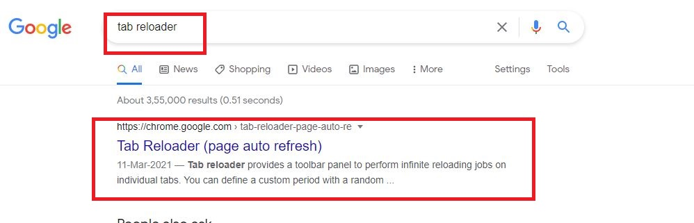 Automatically Refresh a Web Page using Tab Reloader