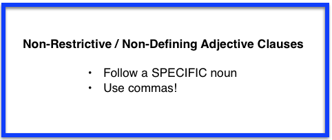 punctuating adjective clauses