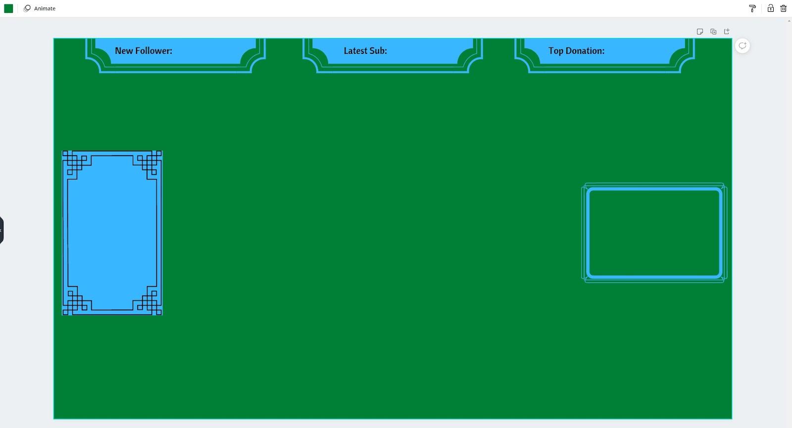 Canva basic overlay design