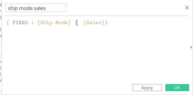 ship mode sales