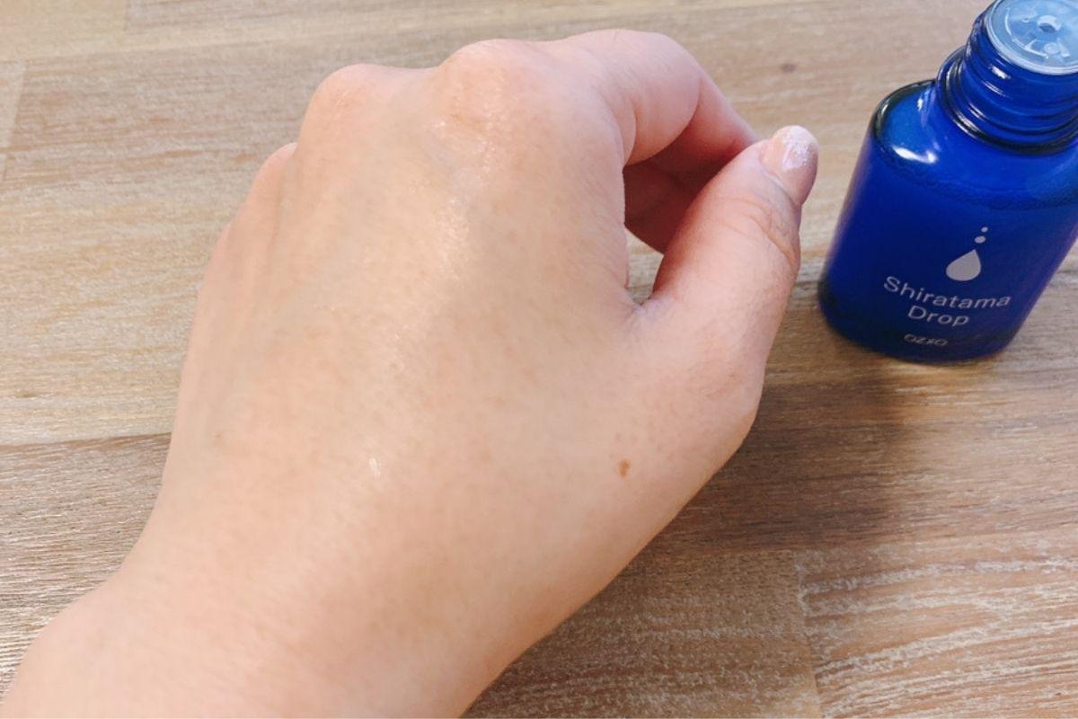 白玉ドロップで手がプリプリになりました。