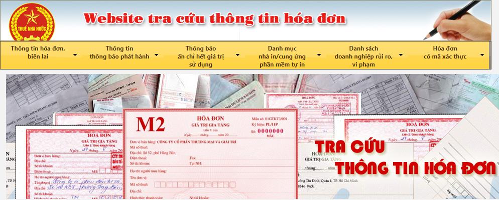 Truy cập website tra cứu hóa đơn của cục thuế