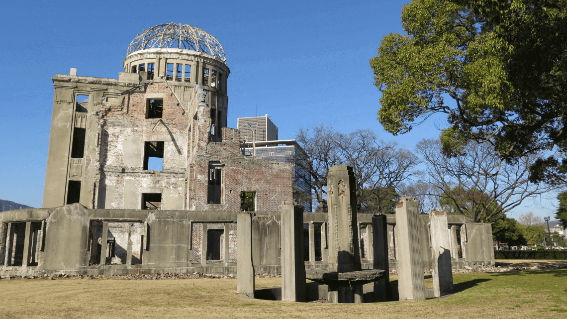 The A-Bomb Dome at Hiroshima Peace Memorial Park Museum, Hiroshima, Japan
