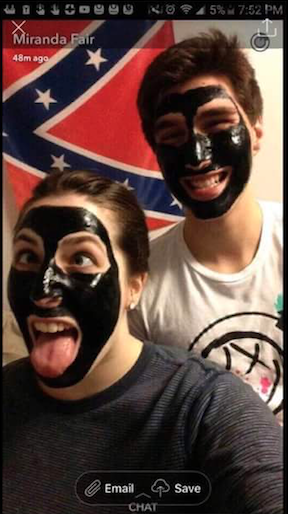 A social media post on Nov. 10 showed two students from Southern Illinois University wearing blackface and standing in front of a Confederate flag.