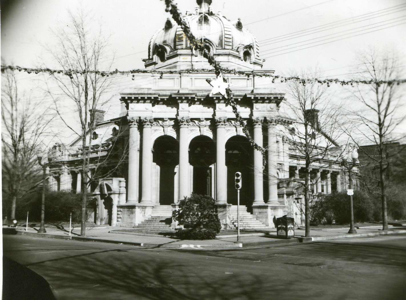 Handley Library about 1940 near downtown Winchester, VA.