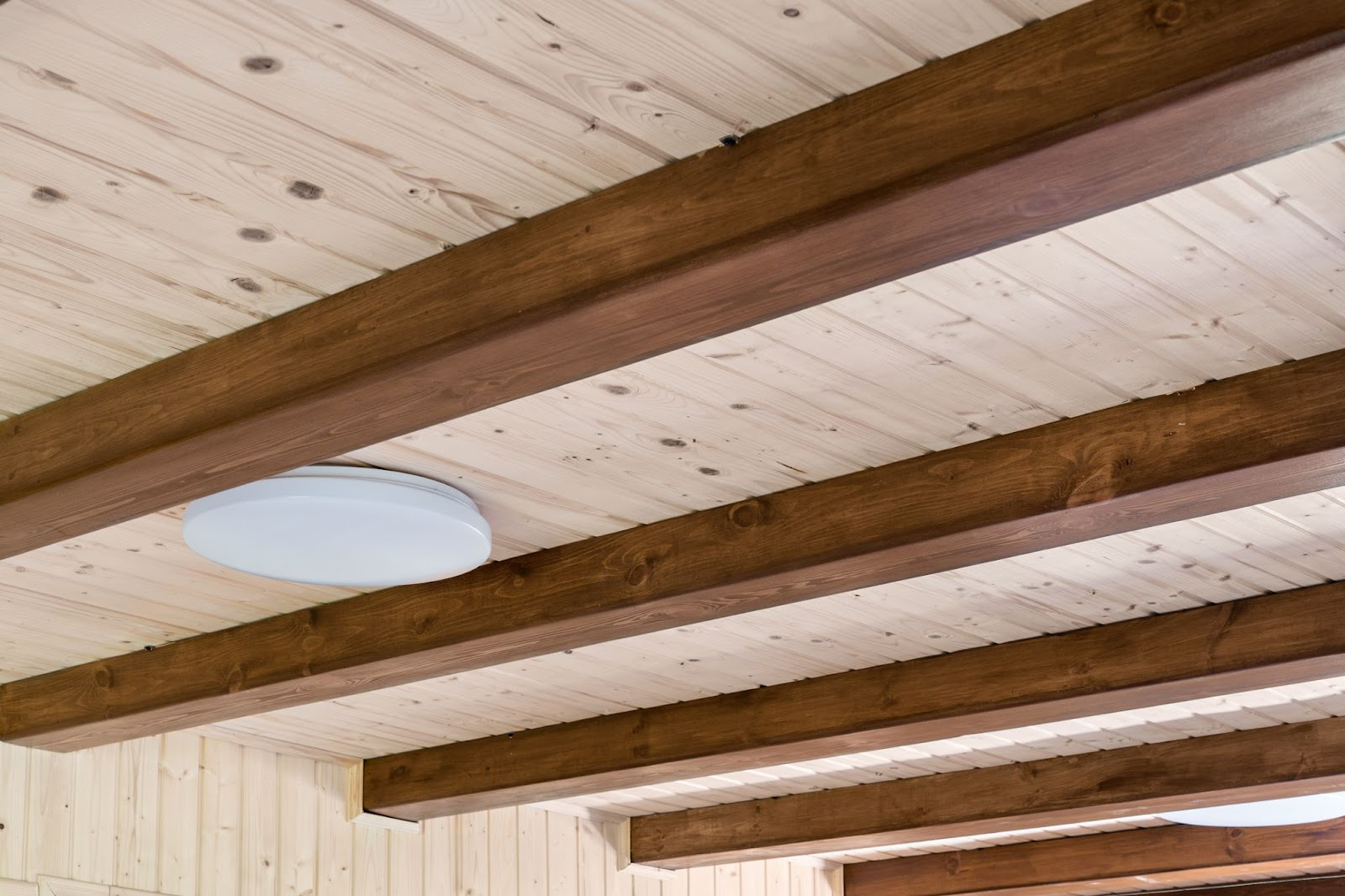 Example of exposed ceiling joist