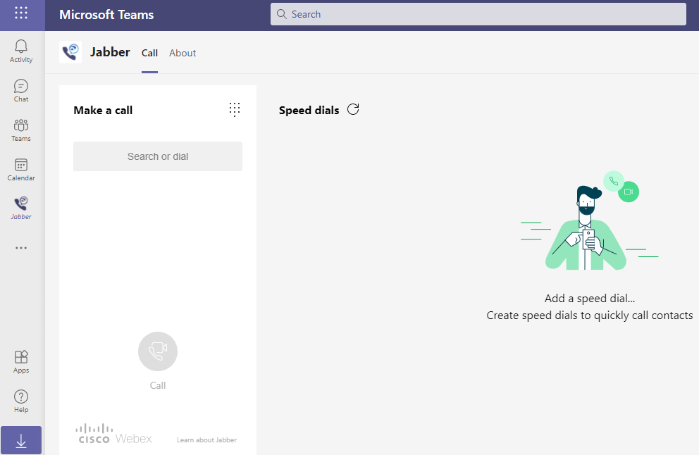 Cisco Jabber features in Microsoft Teams
