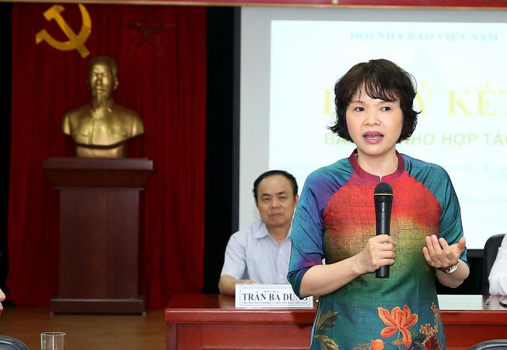 Bà Trần Thị Kim Hoa, Giám đốc Bảo tàng Báo chí Việt Nam. Ảnh: Sơn Hải