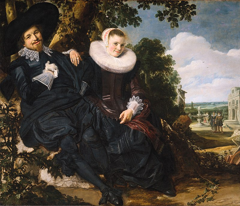 Frans Hals (1582-1666) - Portrait of a Couple, Probably Isaac Abrahamsz Massa and Beatrix van der Laen, c. 1622