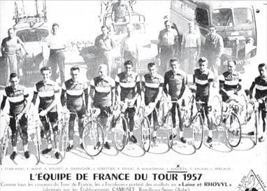L'équipe de France du tour 1957