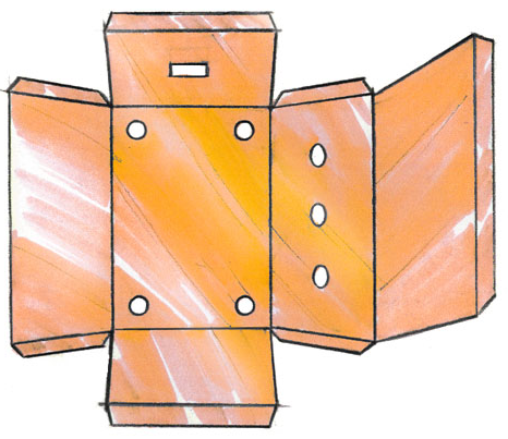 Figure 19.1 : Example of a shield layout with holes and openings for cables