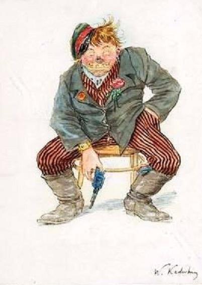 Председатель Революционного трибунала, карикатура времен Гражданской войны