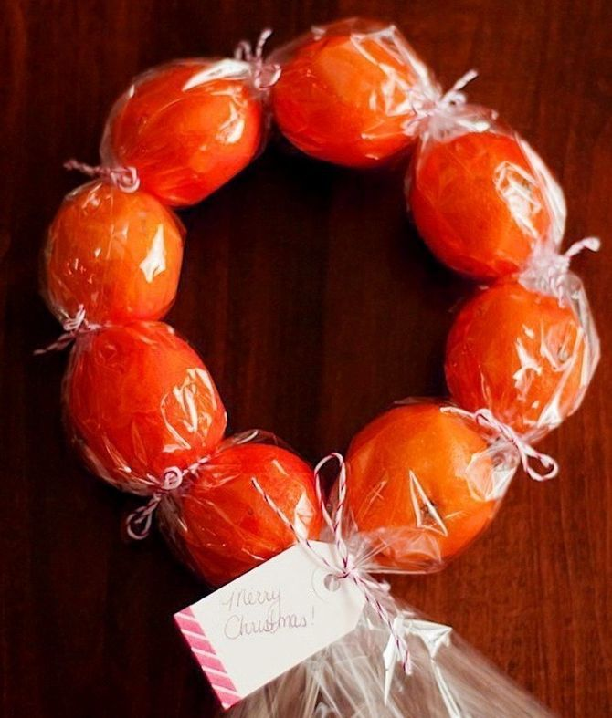 Tangerine decorations for New Year 16