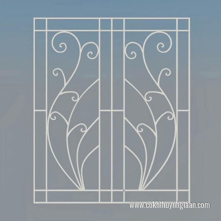 Khung cửa sổ có thiết kế đơn giản kết hợp với màu trắng phù hợp với thiết kế hiện đại.