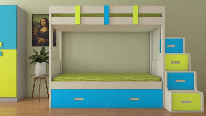 Adona Twin Wood Bunk Bed With Storage