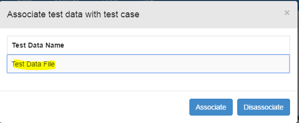 associate data with test case popup