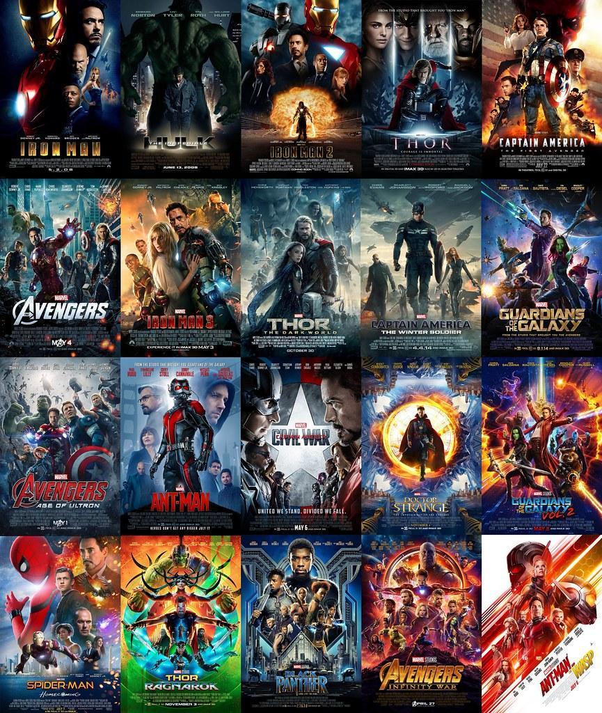 Las películas más taquilleras de Marvel