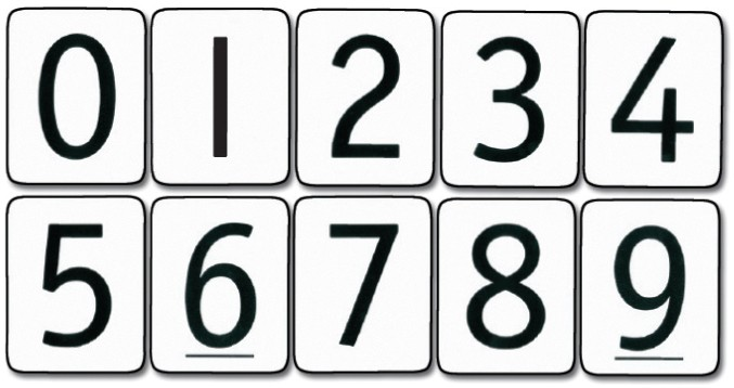 Image result for number cards