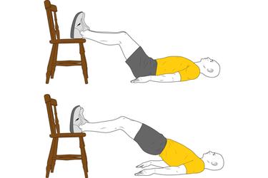 Elevación de la pelvis apoyo en silla
