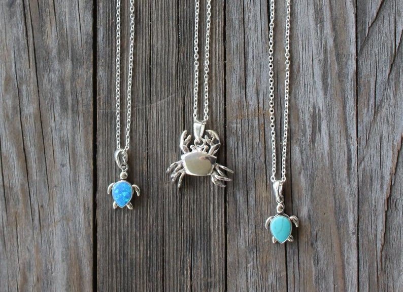 Shiny Little Blessings turtle necklace