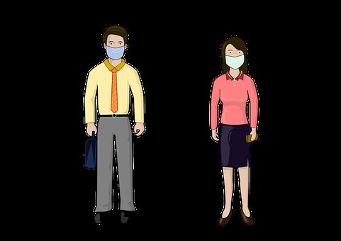 Jarak Sosial, Masker, Topeng