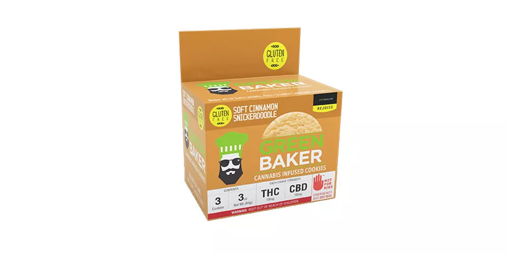 Green Baker Soft Cinnamon Snickerdoodles available from Tacoma dispensary World of Weed