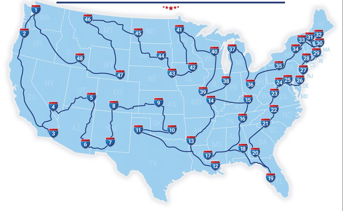 the oddities of America road trip