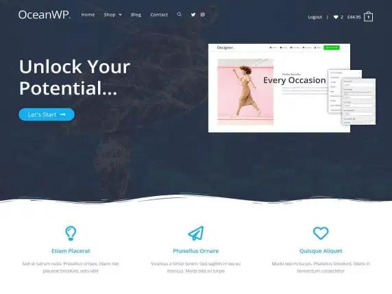 Tema WordPress Terbaik : OceanWP