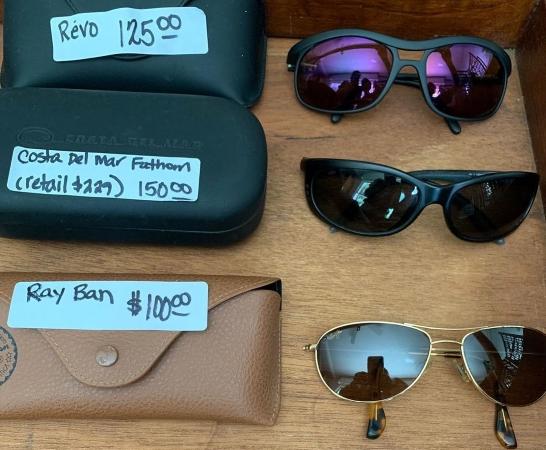 Sunglasses priced for estate sale
