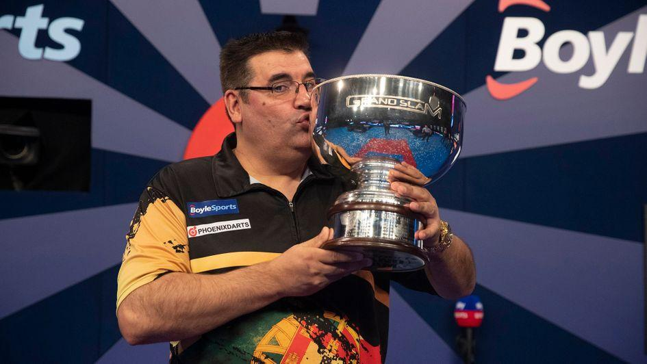 Jose De Sousa is the Grand Slam of Darts champion (Picture: PDC/Lawrence Lustig)