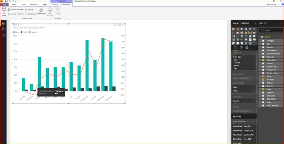 Dual Axis Chart in Microsoft Power BI - Step By Step 36