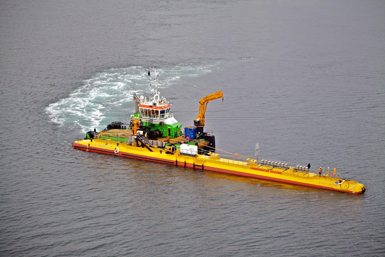 SR2000 being deployed at EMEC tidal test site
