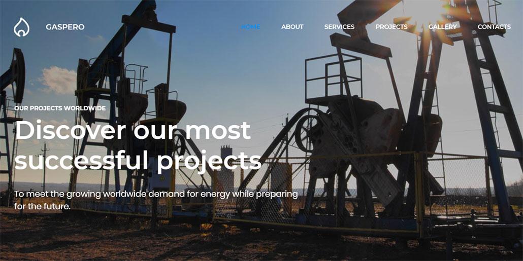 modelo de site de empresa petrolifera gaspero