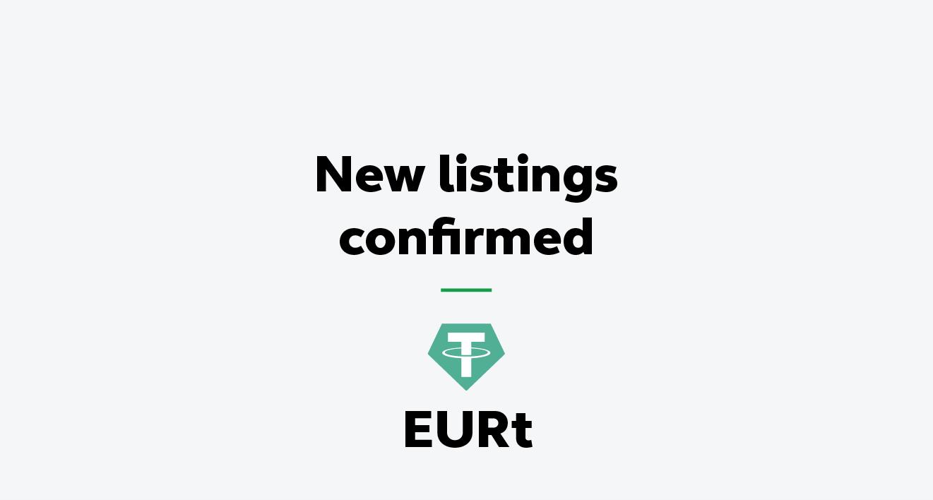 Affiche annonçant l'ajout de l'EURT de Tether sur Bitstamp