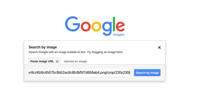 Ví dụ 2 về tìm kiếm hình ảnh đảo ngược của Google