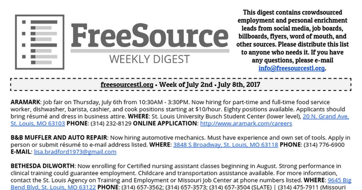 Freesource Weekly Digest 7 2 2017 Google Docs
