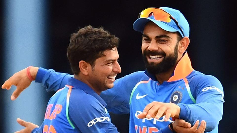 Image result for virat kohli backing Kuldeep