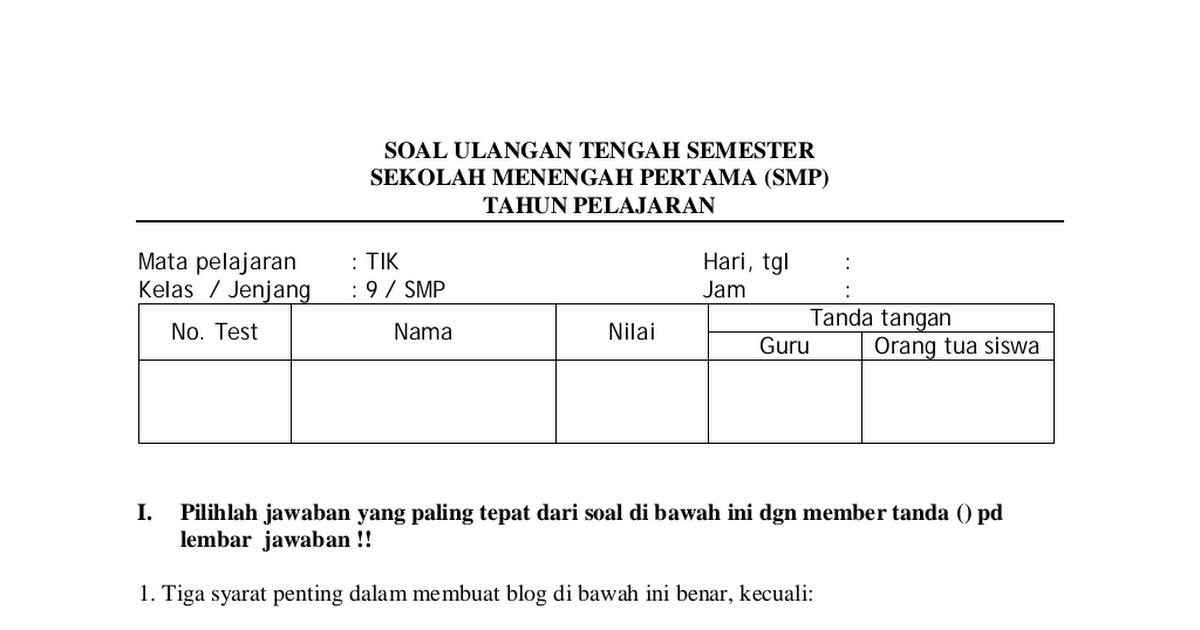 Macridis comparative politics essay Google Docs Soal TIK SMP Kelas Ix